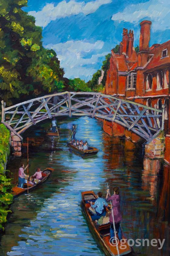 Large mathematical bridge cambridge 14