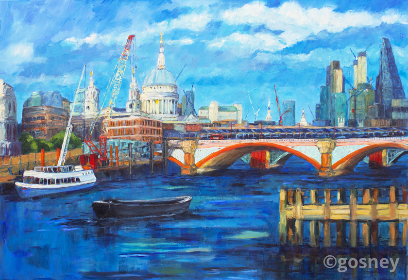Large blackfriars bridge river thames 6