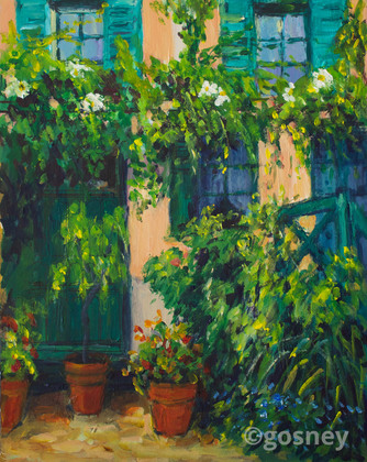 Medium green shutters giverny 4